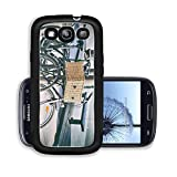 Liili Premium Samsung Galaxy S3 Aluminum Snap Case Styled as old photo of vintage bicycles parked on the street 29620992
