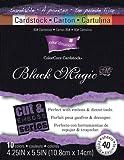 Darice Paper Coredinations Cut and Emboss Cardstock Pad 425 inch x 55 inch 40Pkg Black Magic