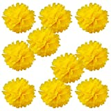 """WYZworks Set of 10 - LEMON 8"""" - (10 Pack) Tissue Pom Poms Flower Party Decorations for Weddings, Birthday, Bridal, Baby Showers, Nursery, Décor"""