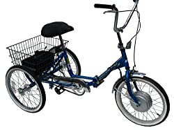 Worksman Adult Port-o-Trike Lightning Electric Tricycle