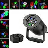 SMALI Mini Landscape Projector Rotating Rgb Stage Holiday Lighting with 9PCS Switchable Lens for Birthday,Christmas,Halloween,Valentines Day,Wedding,Party etc