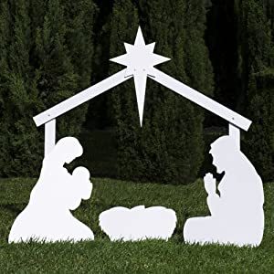outdoor nativity silhouette
