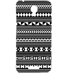 Casotec Black Pattern Print Design Hard Back Case Cover for Micromax Canvas Spark Q380