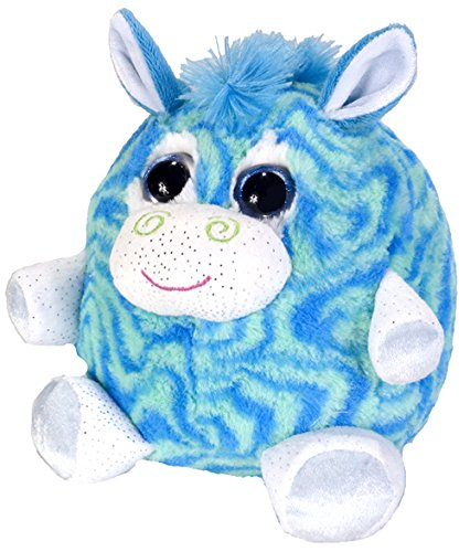 Wild Republic Fuzzball Peppermint Zebra Plush