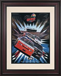 NASCAR Daytona 500 Program Framed Vintage Advertisement Race Year: 42nd Annual - 2000 by Mounted Memories