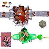 Little India Ben 10 Design Unique LED Lighting Kids Rakhi Gift 308