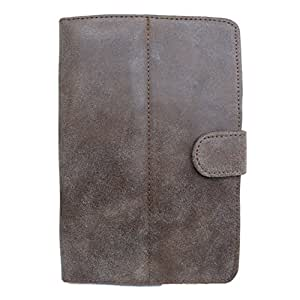 7&Seven G1 EUROPA SUEDE FLIP FLAP CASE COVER POUCH CARRY STAND FOR LAVAIVORY ETAB BROWN