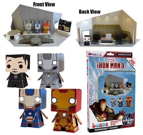 "'Iron Man 3' Boxos Papercraft ~4"" Figure Playset"