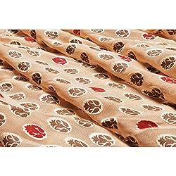 Aagaman Fashions Brocade , Faux Georgette Fabrics (TSFB057_Beige)