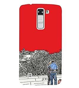 EPICCASE Artistic couple Mobile Back Case Cover For LG K7 (Designer Case)