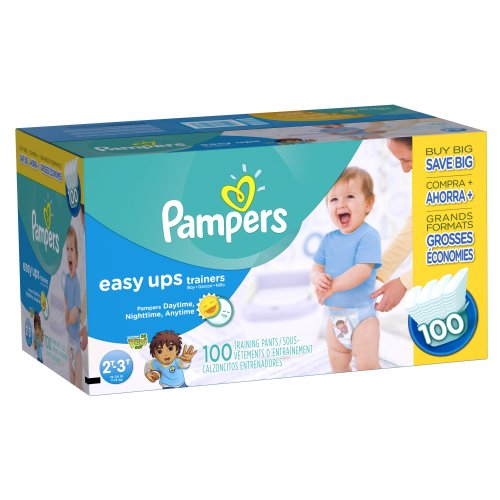 Pampers Easy Ups Training Pants, Size 2T3T Value Pack Boy, 100 Count