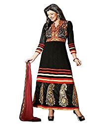 Ethics fashion Black Georgette Dress Material