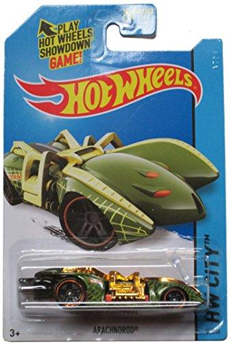 Hot Wheels 2014 Hw City Street Beasts - Green/Gold Arachnorod - 54/250