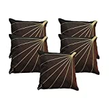 Bloom Rays Cushion Cover Brown 5 Pcs Set 40 X 40 Cm