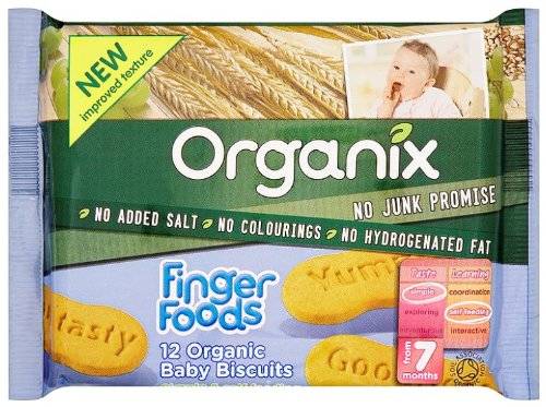 Organix Stage 2 From 7 Months Finger Foods 12 Organic Baby Biscuits 7 x 100g