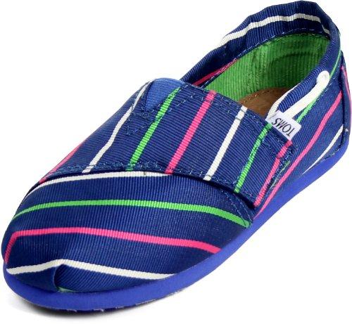 Toms - Tiny Slip-On Blue Stripe Shoes, Size: 10 M US Toddler