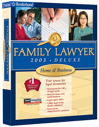Buy Family Lawyer 2003 Home  Business DeluxeB00006VL63 Filter