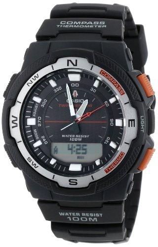 Casio Men's SGW500H-1BV Black Resin Analog Digital Twin Sensor Multi-Function Watch