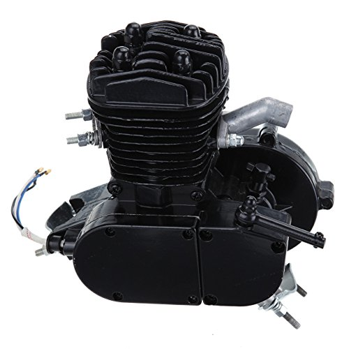 Iglobalbuy Black 50cc 2 Stroke Engine For Motorized Bicycle Bike Engine only (4 Stroke Motor Bike Kit compare prices)