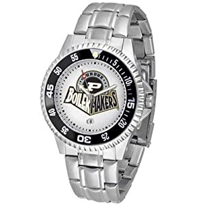 Purdue Boilermakers NCAA Competitor Mens Watch (Metal Band) by SunTime