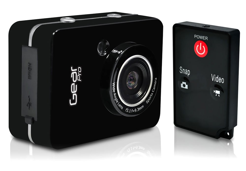 Gear Pro HD 1080P Action Camera Hi-Res Digital Camera/Camcorder with Full HD Video, 12.0 Mega Pixel Camera & 2.4