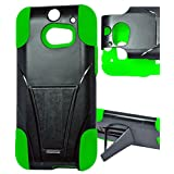 myLife Zombie Green + Black {Layered Design} Two Piece Neo Hybrid (Shockproof Kickstand) Case for the All-New... by myLife Brand Products