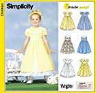 Simplicity 7120 Girl's Dress with Collar and Skirt Variations, Size A 3 4 5 6 7 8
