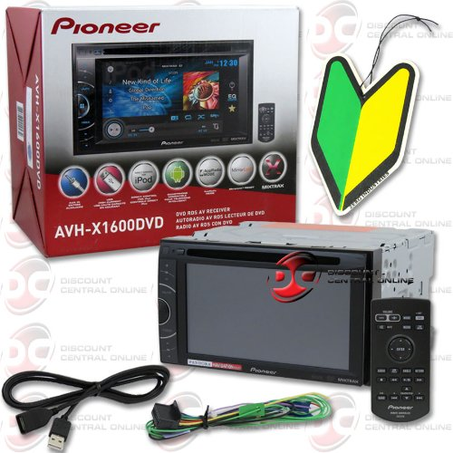 "2014 Pioneer Double Din 6.1"" Touchscreen Am/Fm Mp3 Cd Player Dvd Pandora Receiver + Wireless Remote With Free Squash Air Fresheners"