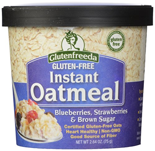 Glutenfreeda's Instant Oatmeal Cups, Blueberries, Strawberries and Brown Sugar, 2.64 Ounce (Pack of 12)