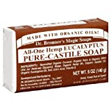 Dr. Bronner's Pure Castile Magic Soap Bars, 5 oz.Baby Infant Clears Organic Soap Bath Fresh Smells