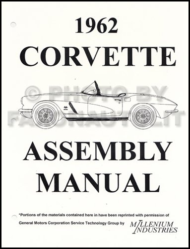 1962 Corvette Factory Assembly Manual Reprint