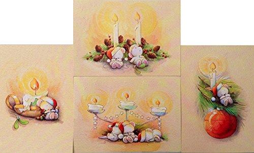 16-vela-resplandecer-navidad-con-sobres-4-disenos-durmiendo-osos-de-peluche