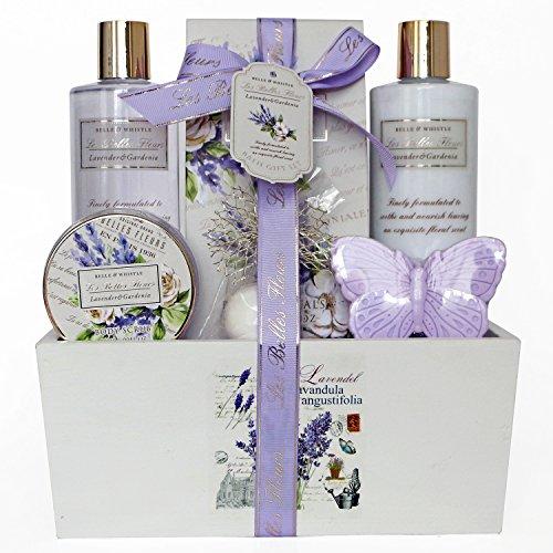 gloss-cesto-regalo-con-prodotti-per-il-bagno-les-belles-fleurs-aroma-lavanda-6-pz