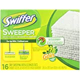 Swiffer 80240125 Sweeper Dry Sweeping Cloths Mop and Broom Floor Cleaner Refills, Gain Original Scent, 16-Count, White