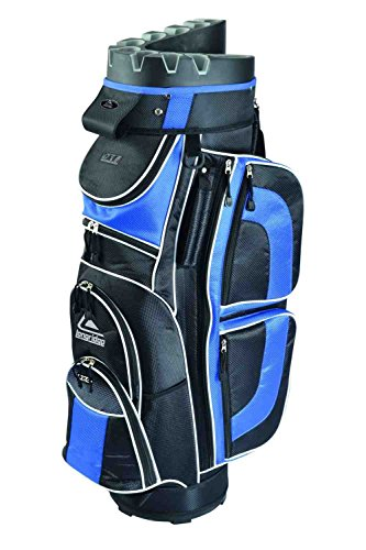 Longridge EZE Borsa da golf Borsa golf EZE Kaddy Pro, Nero (Black/Navy), Taglia unica
