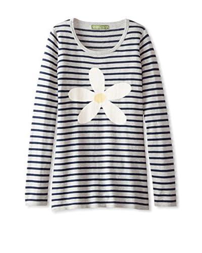 Amber Hagen Women's Daisy Stripe Pullover Sweater