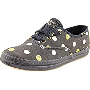 Keds Women's Taylor Swift Glitter Dot Fashion Sneaker, Black, 6 M US