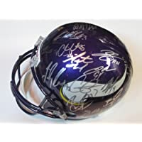 2012 Minnesota Vikings Team Signed Autographed Full Size Helmet Adrian Peterson , Christian Ponder, Percy Harvin , Jared Allen Authentic Certified Coa