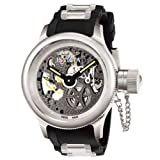 Invicta Men\'s Russian Diver Collection Quinosar Mechanical Skeleton Watch #3843
