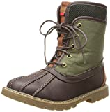 Tommy Hilfiger Kids Charles Duck Boot (Little Kid/Big Kid),Dark Brown/Olive,3 M US Little Kid