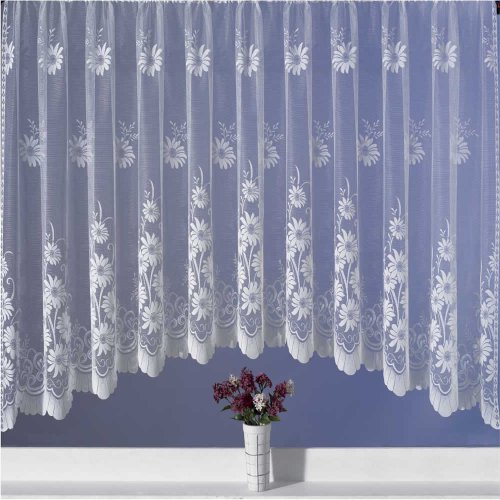 Petal White Jardiniere Net Curtain 200X48
