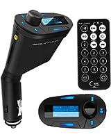 TRIXES Transmetteur FM MP3 voiture pour clés USB, cartes SD avec télécommande et aux.