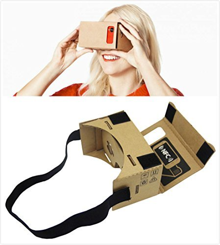 Epple Google Cardboard 3d Vr Virtual Reality DIY 3d Glasses for Smartphone with NFC and Headband