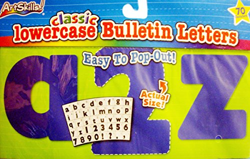 Classic Lowercase Bulletin Letters - Blue