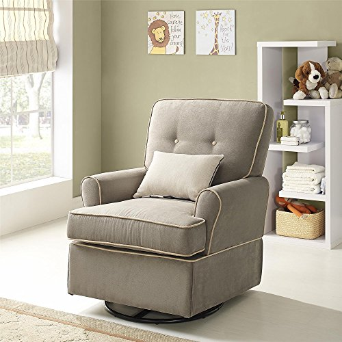 Baby Relax The Tinsley Nursery Swivel Glider Chair Light Brown My Home