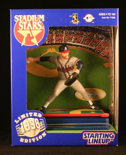 JOHN SMOLTZ / ATLANTA BRAVES 1998 MLB Stadium Stars Starting Lineup Deluxe 6 Inch Figure with Custom Display Base