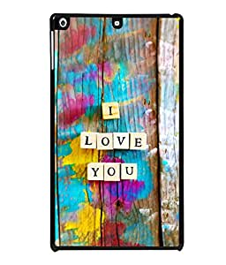 printtech I Love You Wooden Quote Back Case Cover for Apple iPad Air 2