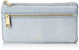 Fossil Preston Flap Wallet, Smokey Blue, One Size
