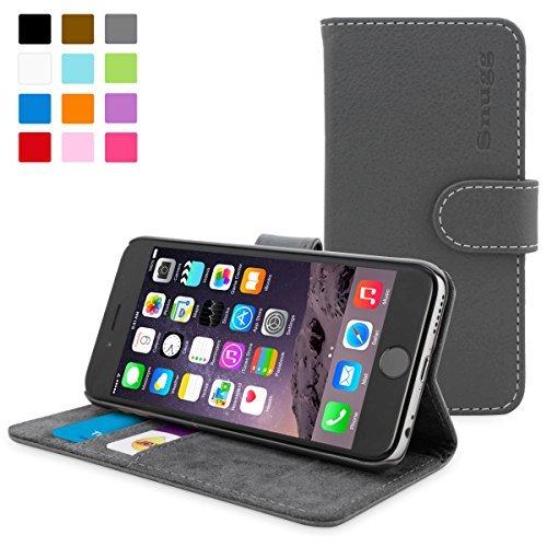 英国Snugg製 iPhone6用 PUレザー手帳型ケース - 生涯補償付き (グレー)