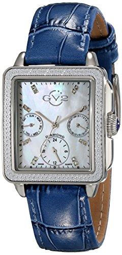 GV2 por parte de las mujeres de múltiples fármacos psicoterapéuticos Gevril 9211 analógico de cuarzo suizo de visualización de color azul en el reloj